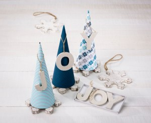 Darice paper mache cones winter snowflake centerpiece doodlebug paper