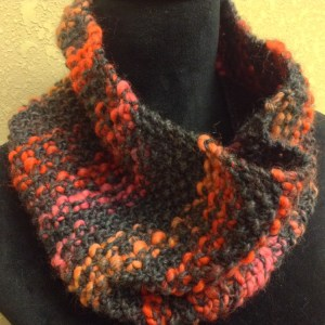 Chunky Seed Stitch Cowl Scarf