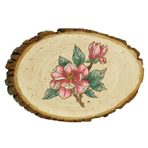 Make a Plaque with a rubber stamp with the wood burning tool