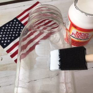 Mason Jar Flag Candle Holder DIY
