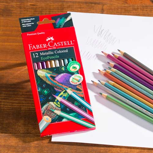 Faber-Castell Metallic Colored Pencils 12 Color Set