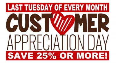 Customer Appreciation Day @ All Locations