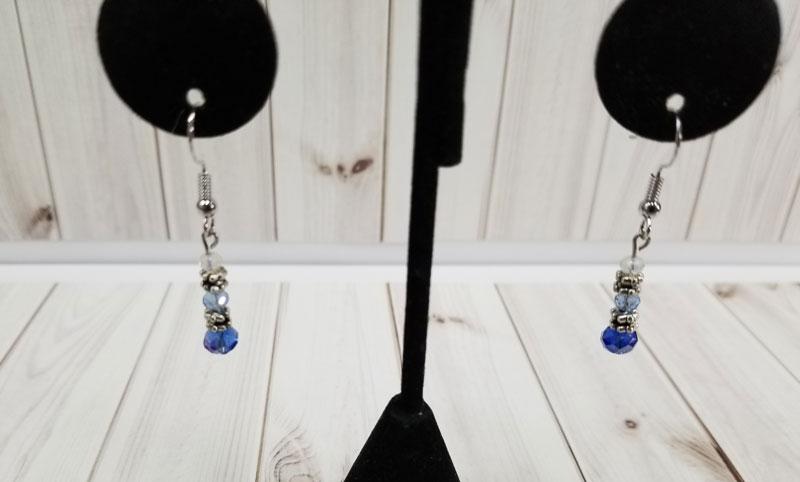 Ombre Pewter Earrings