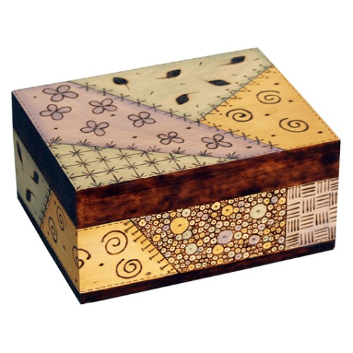 Make a wood burned design on a wooden box with the Versa tool