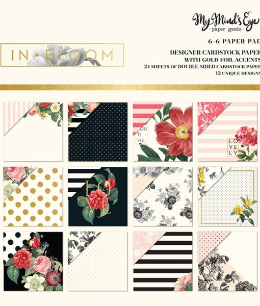 My Mind's Eye In Bloom Paper Pack at Craft Warehouse
