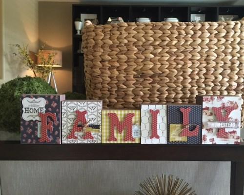 Authentique Homestead paper home decor wood blocks