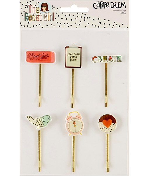 Reset Girl Decorative Planner Page Clips