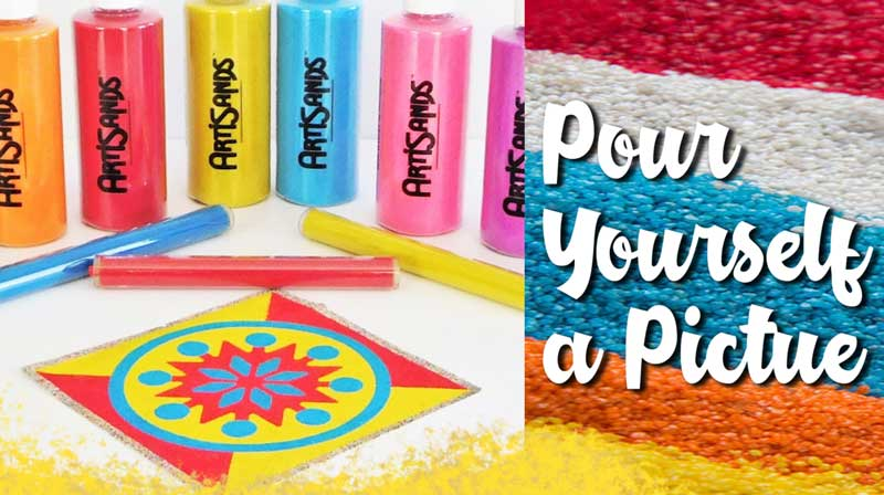 Pour a Painting - Sand Art Make and Take