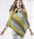 Sweet Roll Poncho by Premier Yarns