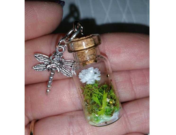 Spring Inspired Mini Charm Bottle