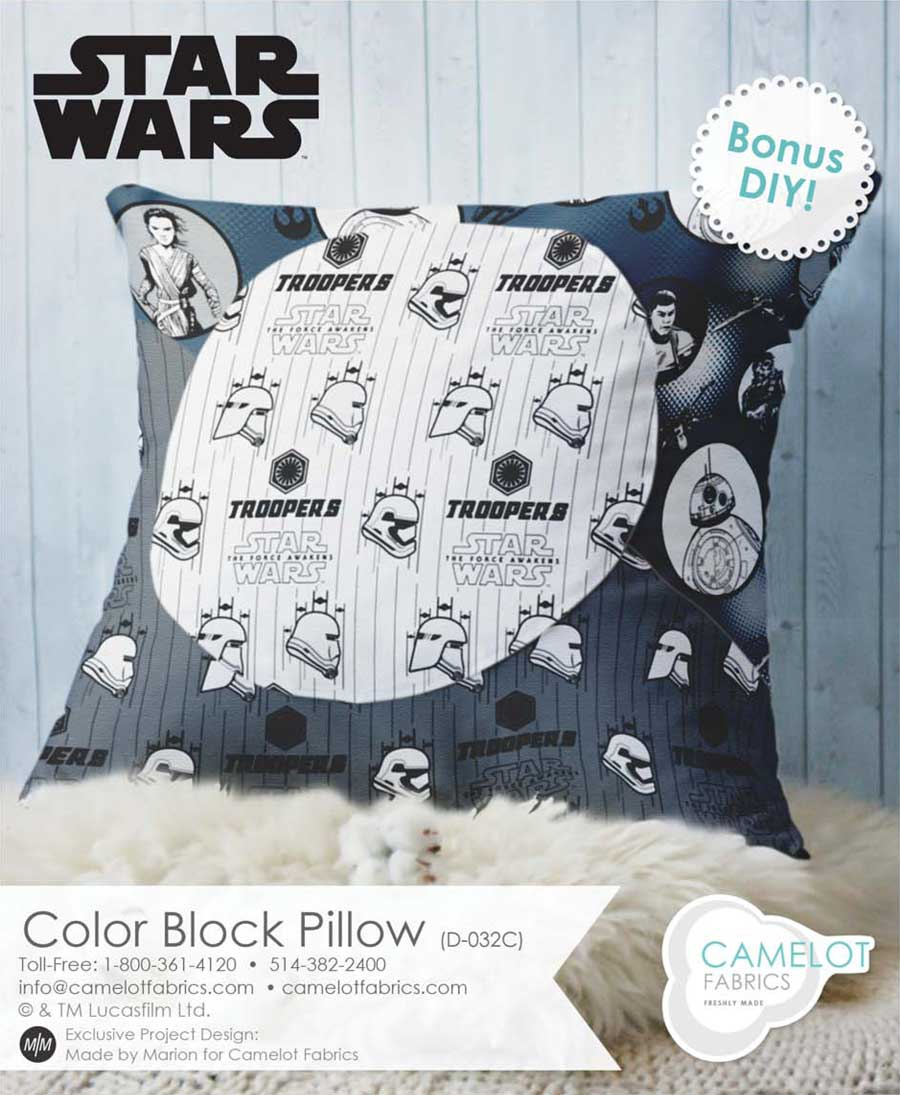 Star Wars color block pillow pattern