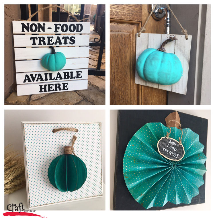 Make a Teal Pumpkin Display for Kids with Allergies for Halloween