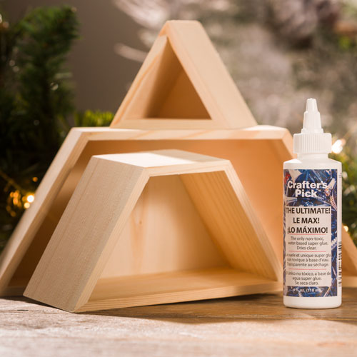 Unfinished Wood Triangles