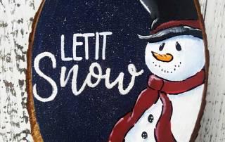 Paint a Snowman Winter Plaque
