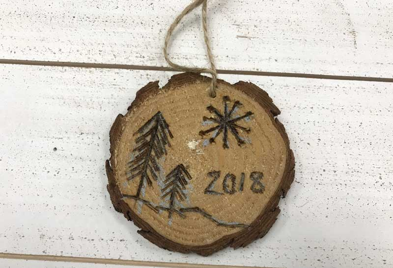 Wood Slice Ornament-Wood Burning @ Salem Location | Salem | Oregon | United States