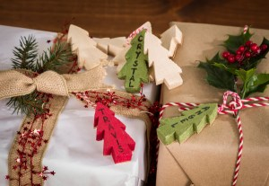 Wood Christmas Tree Gift Tags