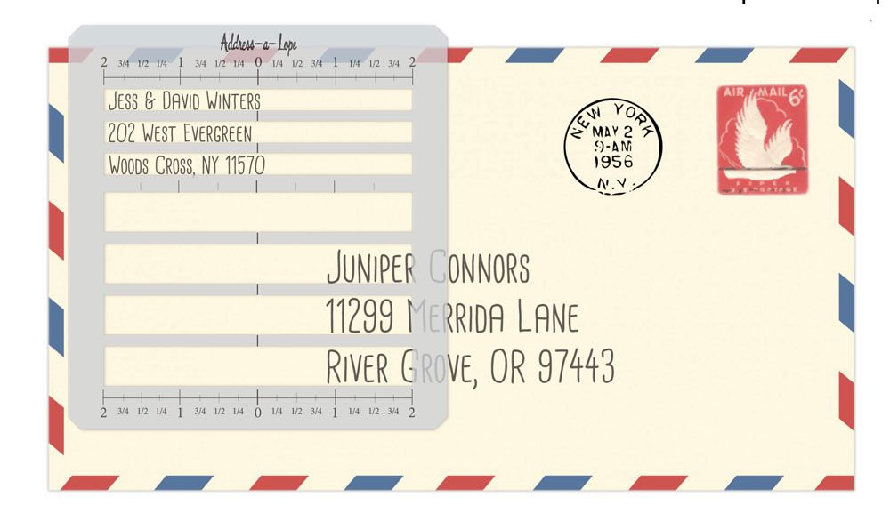 Get the Address-a-Lope Adressing template Lettermate Stencil at Craft Warehouse