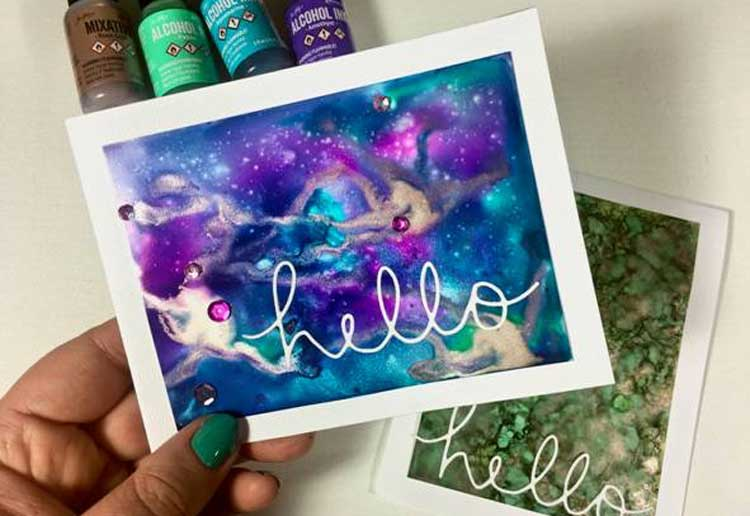Alcohol Ink Card Make & Take @ All Locations