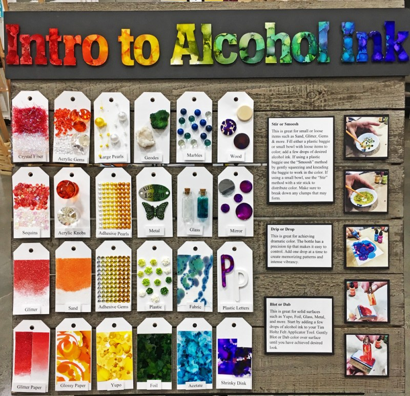 25 Ways to use Alcohol Inks
