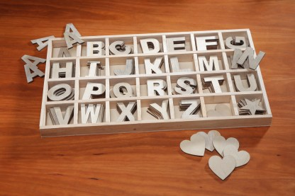 wood letters alphabet spell words