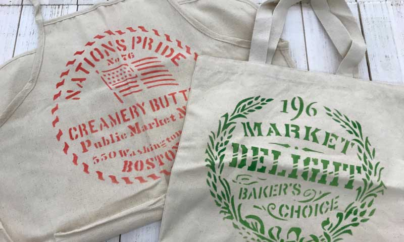 Happy Hour: Stenciled Canvas Apron or Tote Bag @ Vancouver Location | Vancouver | Washington | United States