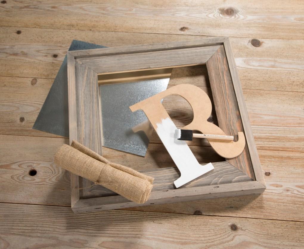 Barn wood open back frame