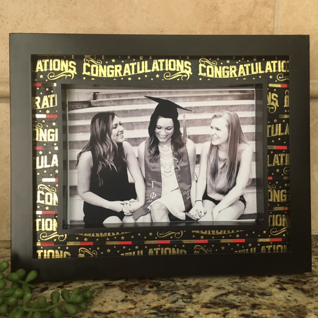 DIY Graduation Frame washi tape