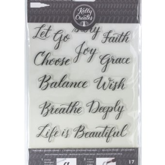 Brush Lettering Traceable Stamps