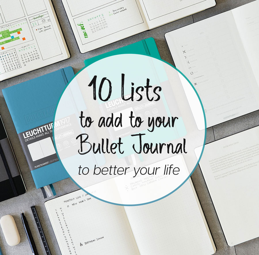 10 Excellent List Ideas For Your Bullet Journal Craft Warehouse