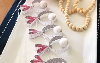 Make a Bunny Garland with strips of paper