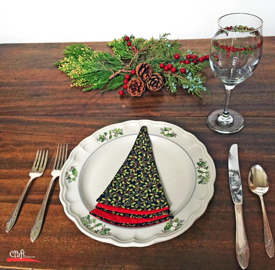Christmas Tree Napkin Pattern: Sew This: Christmas Tree Shaped Napkins