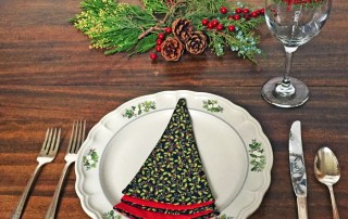 Make this Christmas Tree Napkin