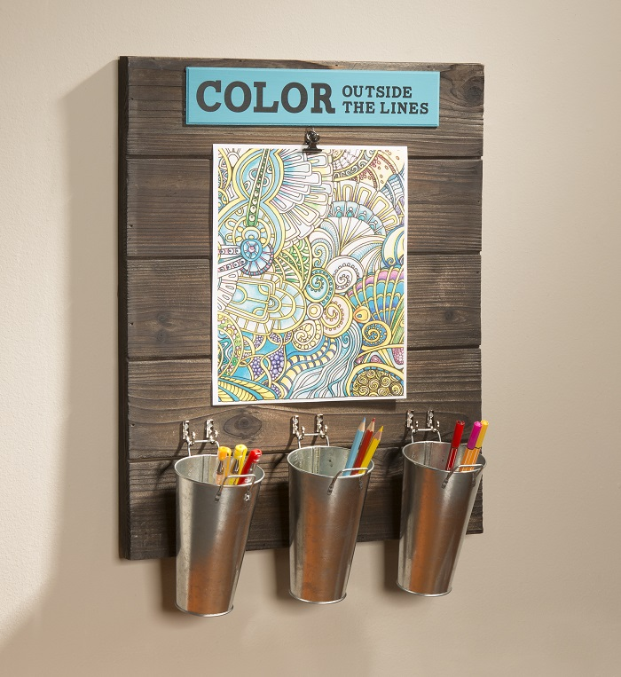 Wood Board Adult Coloring Station Color outside the Lines