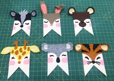 critter pennant faces made from felt