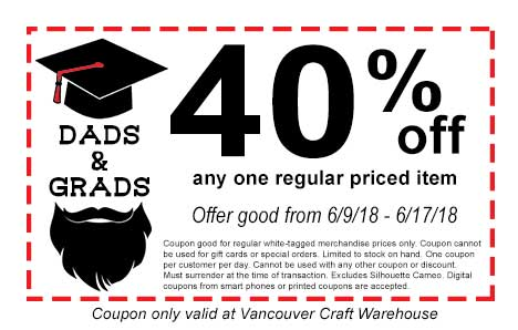 Dad S And Grads 40 Off Coupon Craft Warehouse