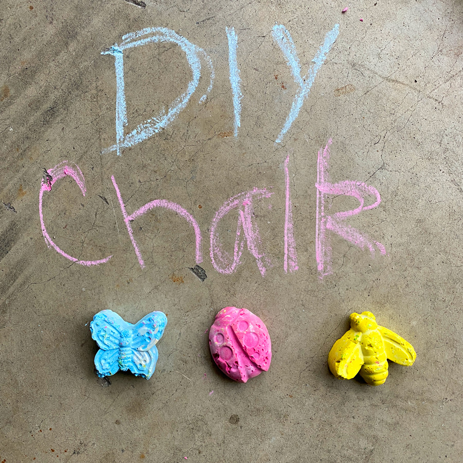 Make your own Sidewalk Chalk