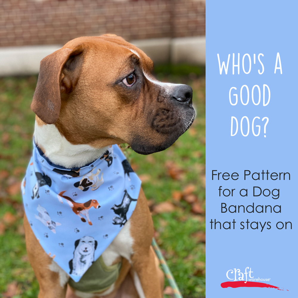 Make a Dog Bandana Free Pattern