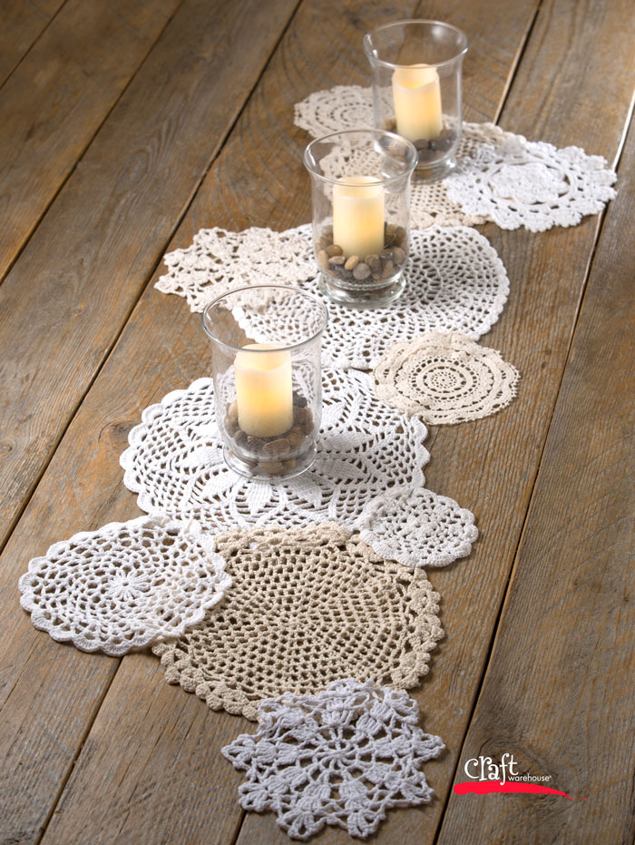 Crochet Doily Table Runner How To at Craft Warehouse