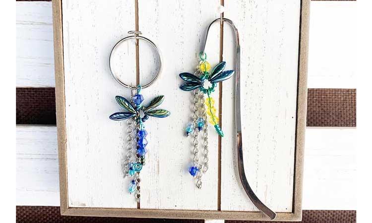 Dragonfly Bookmark or Keychain