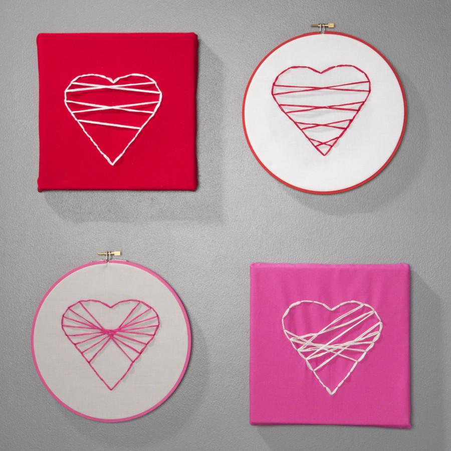 Valentines Heart Embroidery hoop art