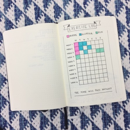 Bullet Journal Exercise Log by Snowing Love