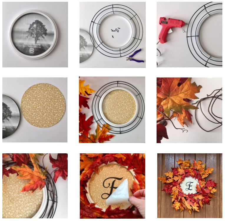 Instructions on Fall Wreath with Frame