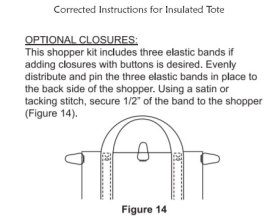 Correction to Step 14 June Tailor Sew as you Go Tote