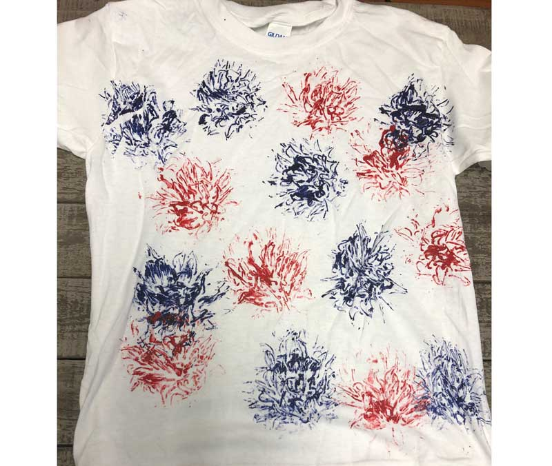 Kid's Camp: Flag Handprint Shirt @ All Locations