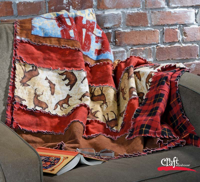 Make an Easy Flannel Rag Quilt - Craft Warehouse