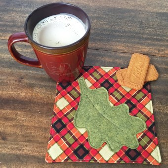 Leaf Coaster made from Felt Pattern Fall Favorites