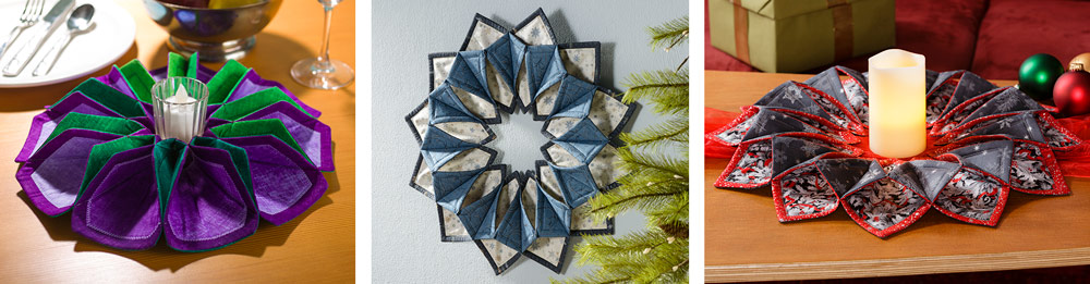 Fold n Stitch Wreath Samples by Craft Warehouse