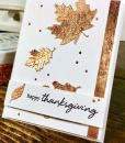 Nuvo Gilding Flakes used on a card
