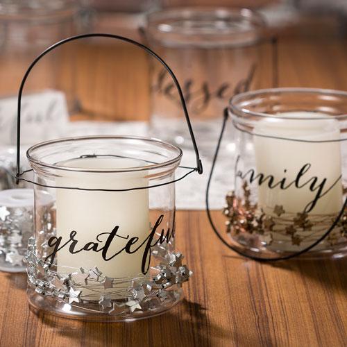 Darice Glass Candleholder