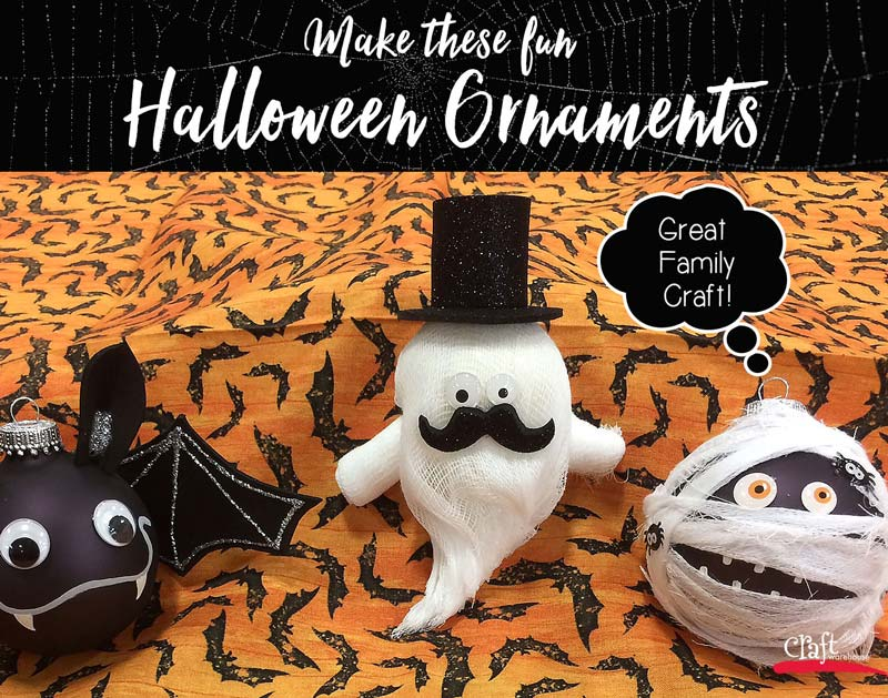 Make these Halloween Ornaments from Craft Warehouse
